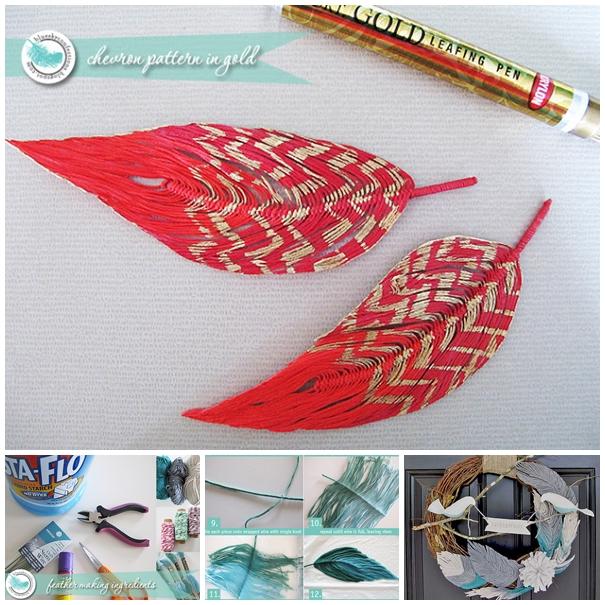 yarn feather F4 Wonderful DIY Handmade Yarn Feather and Bird