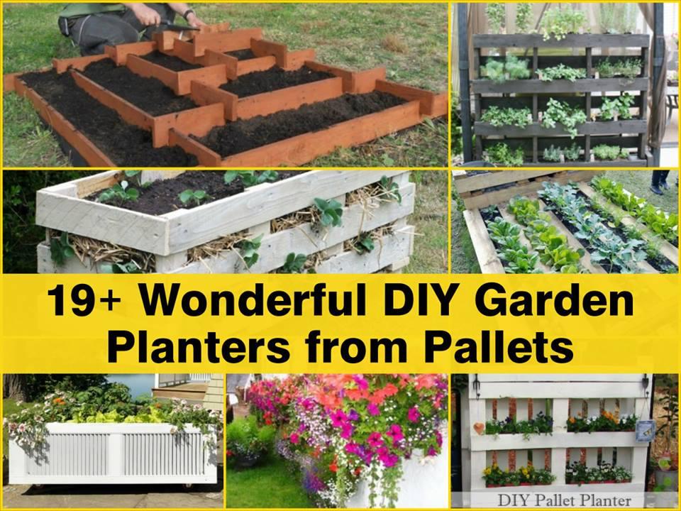 19-Garden pallet planters-wonderfuldiy