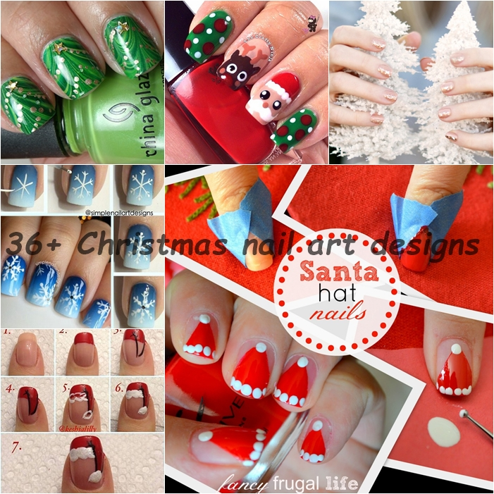 36 DIY christmas nail art designs F  Wonderful DIY Cute Christmas Minion Nail Art