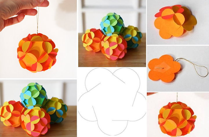 3D paper ball ornament DIY F2 Wonderful DIY Pretty 3D Paper Ball Ornaments