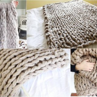 Fancy 45-Minutes DIY Arm Knitted Blanket