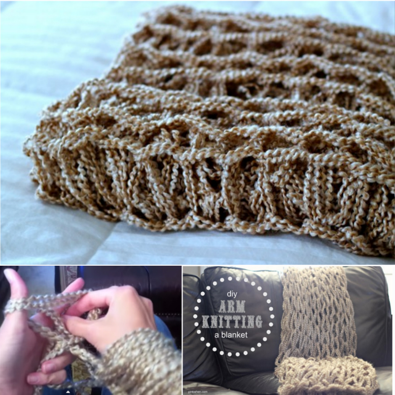 Arm Knitting Blanket Tutorial Fancy 45 Minutes DIY Arm Knitted Blanket