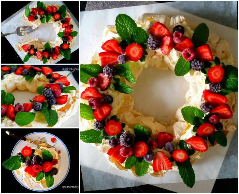 Berry Pavlova Wreath wonderful diy F Wonderful DIY Beautiful Berry Pavlova Wreath