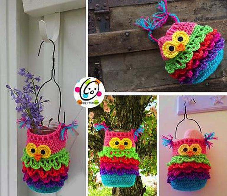 Wonderful DIY Crochet Bonbon The Owl with Free Pattern