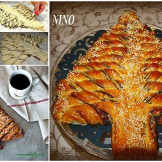 Wonderful DIY Braided Nutella Christmas Tree Bread