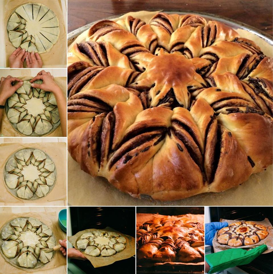 Braided Nutella Star Bread recipe Wonderful DIY Beautiful Braided Nutella Bread