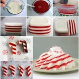 Wonderful DIY Christmas Candy Cane Jello