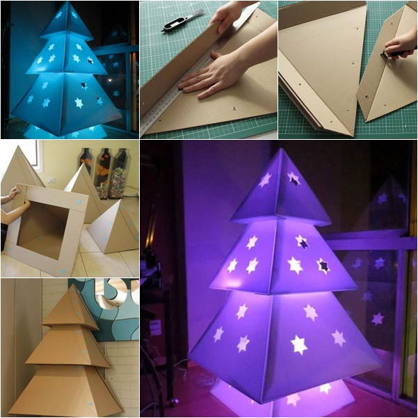 Cardboard Christmas Tree wonderfuldiy F Wonderful DIY Cardboard Christmas Tree