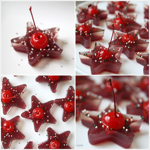Cherry Jello Stars wonderfuldiy  Wonderful DIY Christmas Cherry Jello Stars