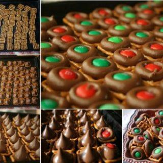 Wonderful DIY Christmas Chocolate Pretzel Bites