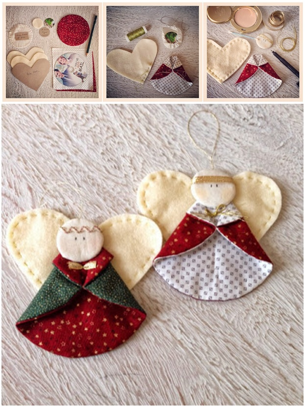 Angel Ornaments For Christmas Tree.Wonderful Diy Cute Christmas Angel Ornaments