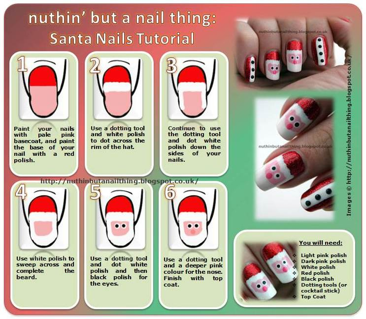 Christmas Nail Art Santa Nails 36 Wonderful  Christmas nail  art Designs