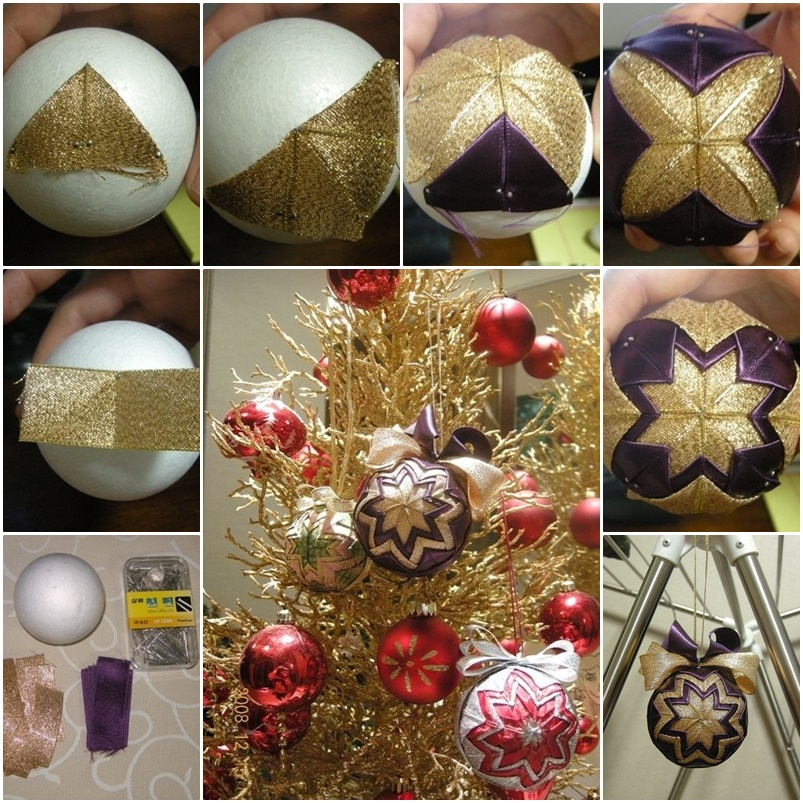 Christmas Ornament Patchwork Tutorial wonderfulDIY Wonderful DIY Christmas Patchwork Ornament