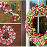 Wonderful DIY Easy Ribbon Christmas  Wreath