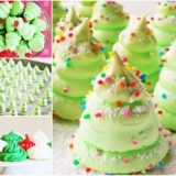 Wonderful DIY  Christmas Tree Meringue Cookies