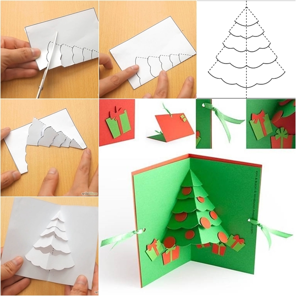 Christmas Tree Pop up Card DIY F Wonderful DIY Christmas Tree Pop up Greeting Card