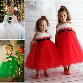 Wonderful DIY Christmas Tutu Dress for Your Little Princess