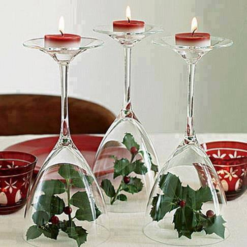 Christmas Wine Glass Candle Centrepieces Wonderful DIY Fantastic Wine Glass Centerpieces