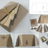 Wonderful DIY Carboard Christmas Tree Greeting Card
