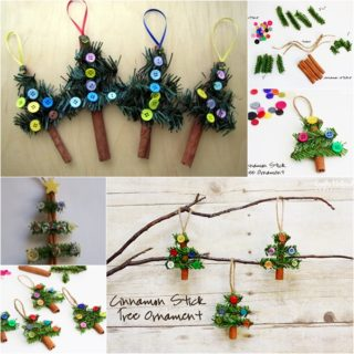 Wonderful DIY Cinnamon Stick  Christmas Tree Ornaments