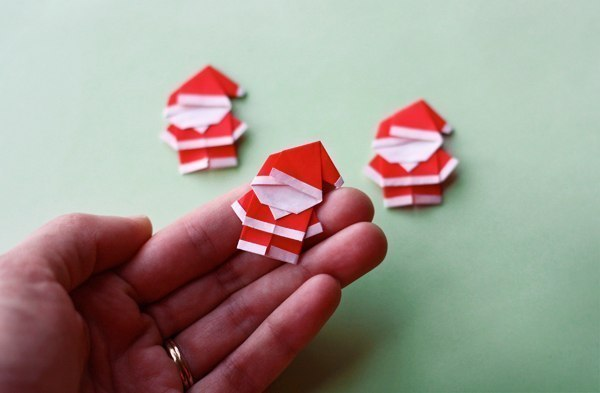 Cute Origami Santa wonderful diy1 Wonderful DIY Cute Mini Origami Santa
