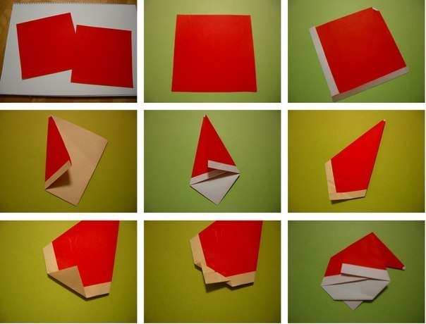 Cute-Origami-Santa-wonderful diy2