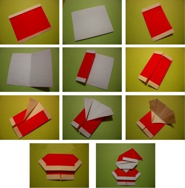 Cute-Origami-Santa-wonderful diy3