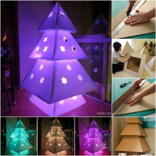 Wonderful diy cardboard christmas fireplace diy crafts solutioingenieria Gallery