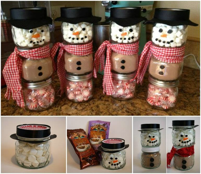wonderful diy hot cocoa snowman gift for christmas