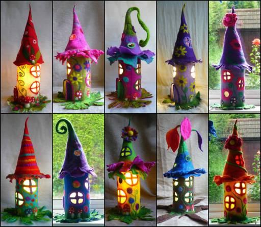Fairy House Tutorial wonderful DIY Fantastic Cardboard Tube Fairy Houses