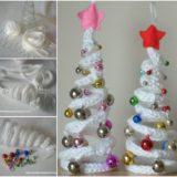 Wonderful DIY French Knitting Ornaments for Christmas