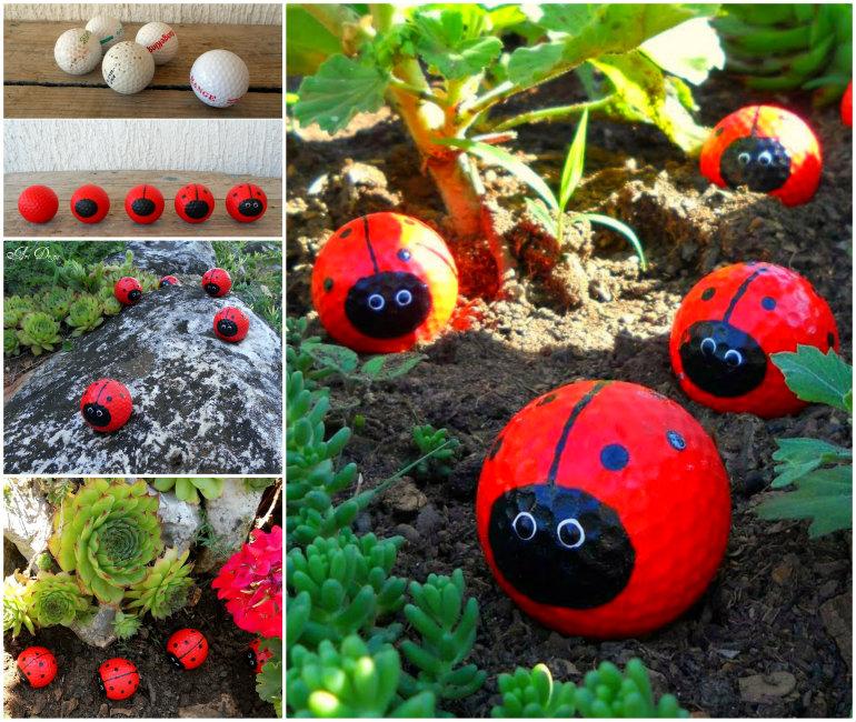 Golf Ball Lady Bugs Wonderful DIY Adorable Golf Ball Ladybugs
