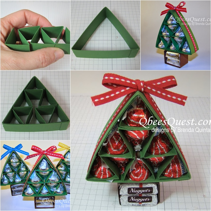 Wonderful DIY Sweet Chocolate Christmas Tree Gift