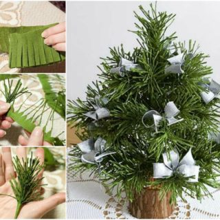 Wonderful DIY Cute Mini Paper Christmas Tree