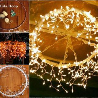Wonderful DIY Hula Hoop Chandelier