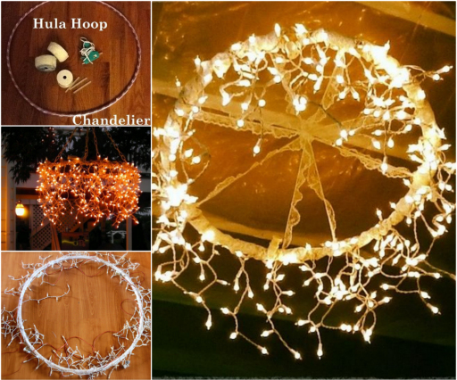 Hula Hoop Chandelier wonderfulDIY Wonderful DIY Hula Hoop Chandelier