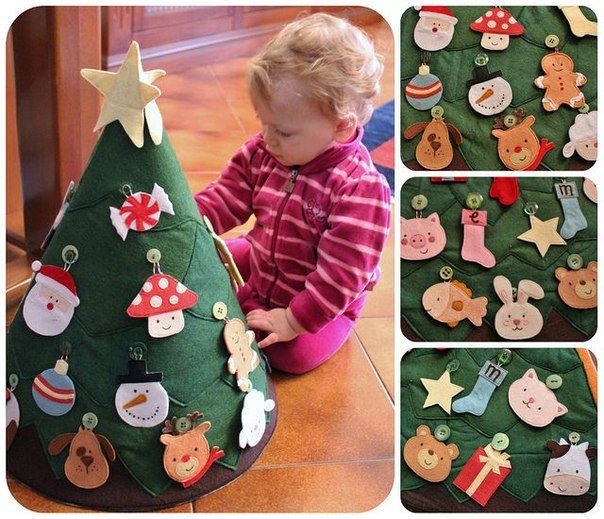 Kids Play Felt Christmas Tree wonderfuldiy Wonderful Kids crafts    DIY Felt Christmas Tree