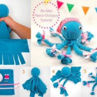 Wonderful DIY Cute Fleece Octopus without sewing