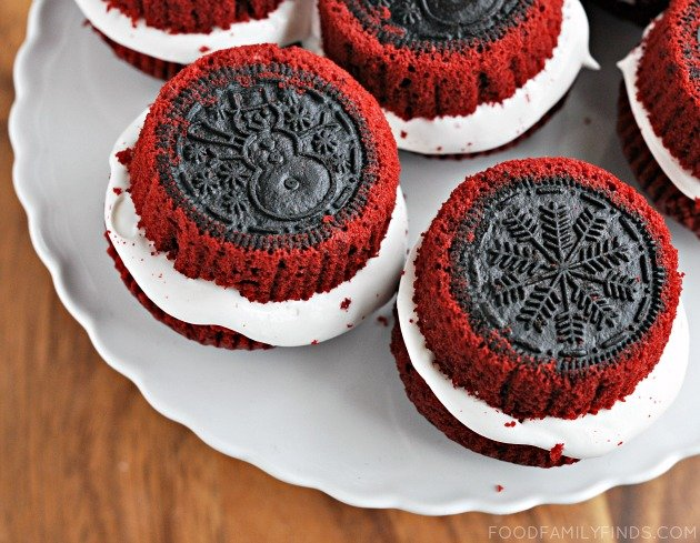 OREO Cupcakes for Christmas OREO Stuffed Red Velvet Cupcakes That Taste Divine!