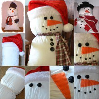 Wonderful DIY Friendly  Snowman Pillow