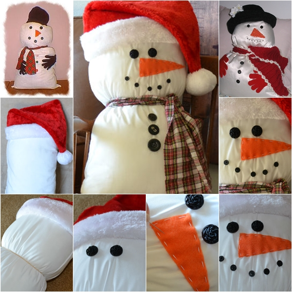 Pillow Snowman wonderful DIY. f Wonderful DIY Friendly  Snowman Pillow