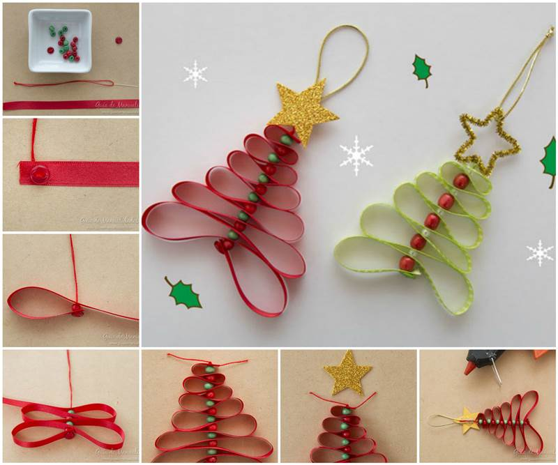 Ribbon-and-Beads-Christmas-Tree-wonderfuldiy F