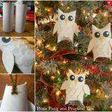 Wonderful DIY Snowy Owl Ornaments from Paper Rolls