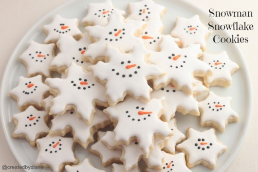 Snowman Snowflake Cookies wonderful diy Wonderful DIY Christmas Snowflake Cookies