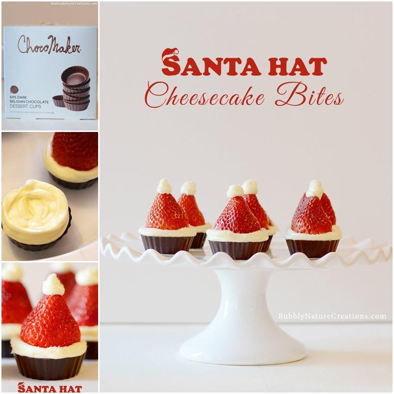 Strawberry-Santa-Hat-Cheesecake-Bites-no-bake