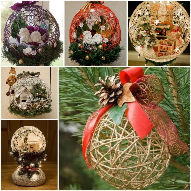 String-Ball-Christmas-Ornaments- wonderfuldiy F