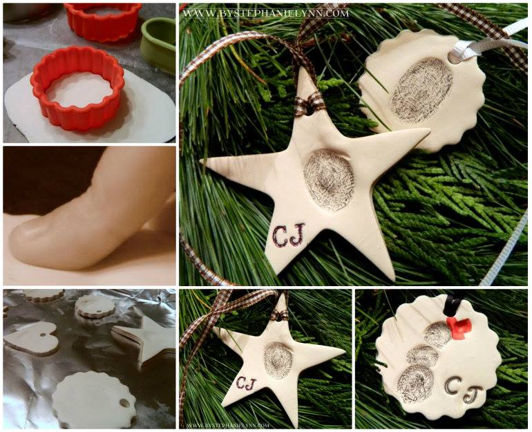 Thumbprint Clay Ornaments wonderful DIY Woderful DIY Christmas Thumbprint Clay Ornaments