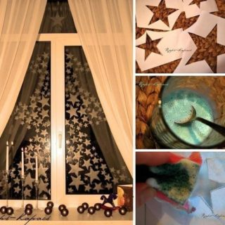 Wonderful DIY Star Window Painting with Toothpaste