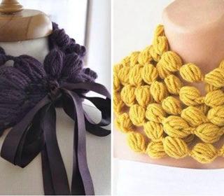 Wonderful DIY Crochet Puff Ball Scarf