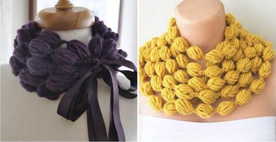 arm knitting scarf Wonderful DIY Crochet Puff Ball Scarf